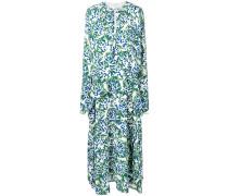Langärmeliges Kleid mit Drapierung