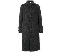 checked long buttoned coat