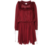 ruffle trimmed pleated dress