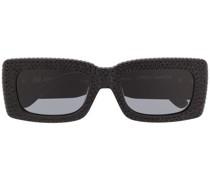 Eckige Sonnenbrille mit Verzierung
