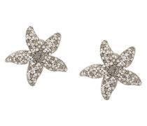 crystal embellished starfish earrings