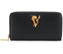 embossed V wallet