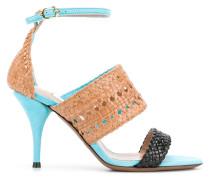 woven detail heels