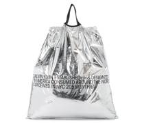 Shopper im Metallic-Look