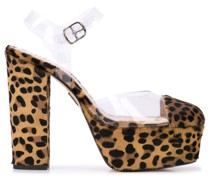 'Audrey' Pumps mit Leoparden-Print
