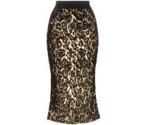 Paillettenrock mit Leopardenmuster