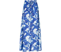 fish print long skirt