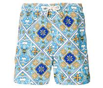 print swim shorts