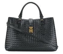 Große 'Roma' Handtasche aus Intrecciato-Leder
