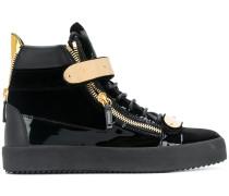 Archer velvet hi-top sneakers