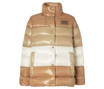 Panelled Nylon Puffer Jacket with Detachable Sleeves