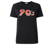 90's T-Shirt mit Stern-Print