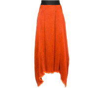 textured asymmetric skirt