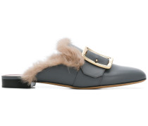 Janess mink fur-lined mules