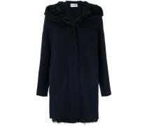 raccoon fur, lamb fur and cashmere hooded coat