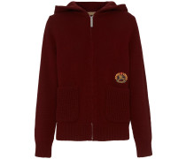 Embroidered Archive Logo Cashmere Hooded Top