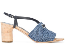 woven slingback sandals