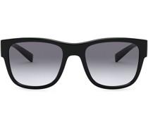 Eckige Sonnenbrille mit Farbverlauf
