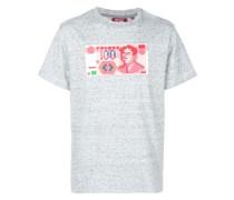 T-Shirt mit Geldschein-Print