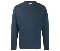Sweatshirt mit diagonalen Nähten