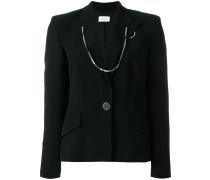chained trim blazer