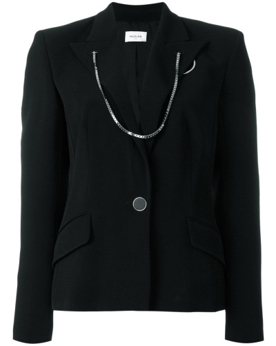 chained trim blazer