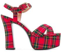 Sandalen mit Schottenkaro