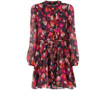 floral print tie dress