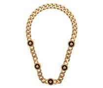 Halskette mit emaillierten Medaillons