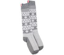 Socken mit Fair-Isle-Strickmuster