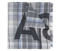 Karierter Schal mit Logo
