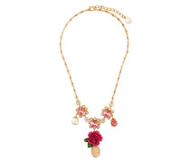 cameo crystal rose necklace