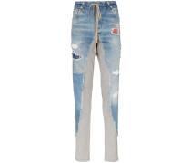 Jogginghose mit Jeanseinsatz