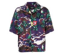 Seidenhemd mit Hawaii-Print