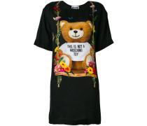 T-Shirt-Kleid mit Teddy-Bär-Print