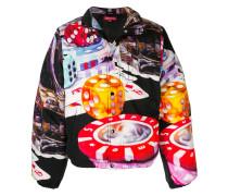 Gefütterte Jacke mit Casino-Print