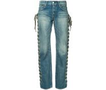 Jeans mit Schnür-Applikation
