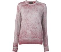Pullover mit Acid-Wash-Effekt