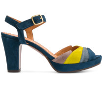 colour block ankle strap sandals