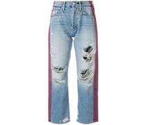 Distressed-Jeans mit Streifen