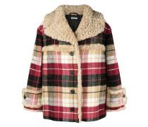 checked print oversized jacket