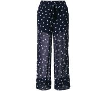 polka dot sheer trousers