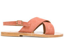 chunky cross strap sandals