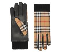 Handschuhe mit Vintage-Check