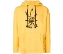 high life print hoodie
