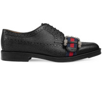 Leather brogue shoe with Web