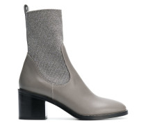 chunky heel mid-calf boots