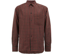 checked button shirt