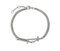 engraved cross bracelet