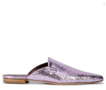 Mules im Metallic-Look